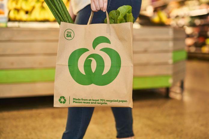 Woolworths SA paper bag.