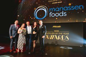 Food Supplier of the Year 2020 – under $50m: Manassen Foods (Grant Ramage, Kelly Howard, Mat Boys, Jane Leighton, Scott Marshall).