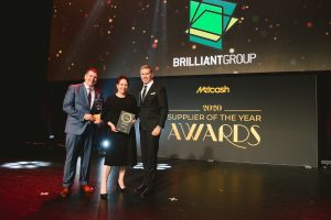 General Merchandise Supplier of the Year 2020: Brilliant Group (Grant Ramage, Sarah Goodwin, Scott Marshall).