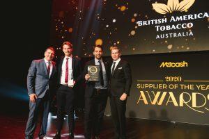 Tobacco Supplier of the Year 2020: British American Tobacco (Grant Ramage, Casey Novak, Rhian Gerard, Scott Marshall).