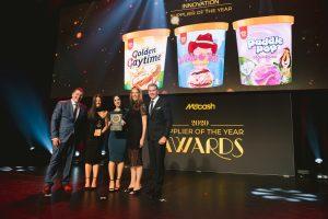 Product Innovation Supplier of the Year 2020: Unilever Bubble O'Bill Ice Cream Range (Grant Ramage, Sarah Walker, Christina Habib, Hanna Fold, Scott Marshall).