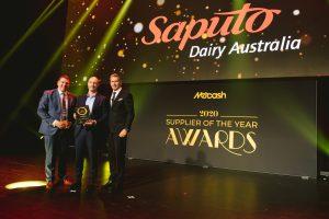 Private Label Supplier of the Year 2020: Saputo Dairy Australia (Grant Ramage, Darren Angerame, Scott Marshall).
