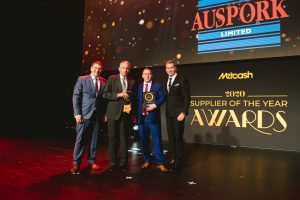 Meat & Seafood Supplier of the Year 2020: Auspork Australia (Grant Ramage, Peter Hardy, Dle Bissett, Scott Marshall).