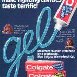 1981 Colgate gel advertisement.