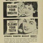 Colgate advertisement 1957.