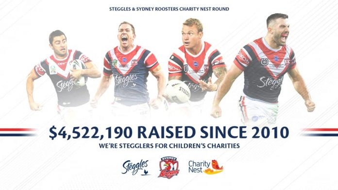 Steggles announces $4.5m for charity.